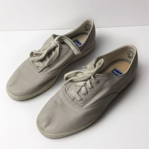 Keds Relaxed Fit Leather Taupe Sneakers